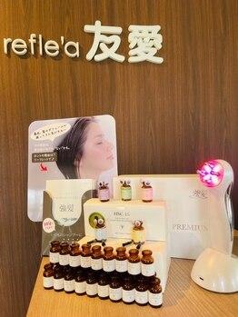 ビューティアンドリラックス リフレ 友愛(Beauty&Relax refle'a)の写真/頭皮に特化し強髪にもしっかりアプローチ!髪のお悩みにも◎頭皮をほぐして血行を促進し疲れを癒します♪