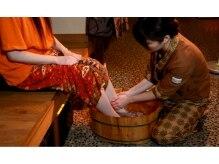 タイ古式ヒーリングサロン ラ イム 北千住店の雰囲気(むくみや冷えでお悩みの方に嬉しい、足浴付です!)