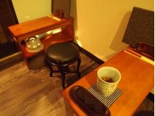 ゆるり庵の雰囲気(質素な和の待合処 こだわりのお茶でゆったり)