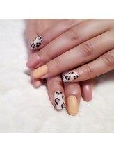 ビエンネイル(Bien nail)/レオパード柄×優しい差し色
