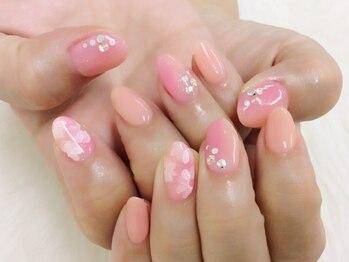 女子◇お花ネイル¥5990