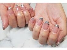ネイルサロンブラン(nail salon BLANC)/ガラスフレンチネイル