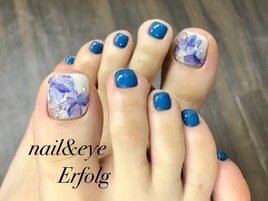 梅雨シーズンの紫陽花foot nail