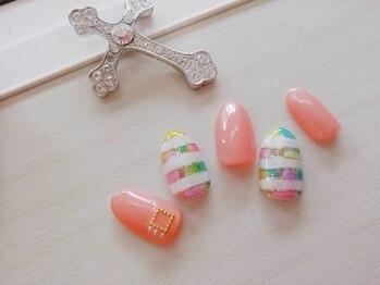 ネイルサロンカリプソ(Nail Salon Calypso 2)/ボーダーネイル☆