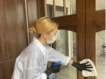 マスクの着用、消毒の徹底でウイルス対策を心掛けております。