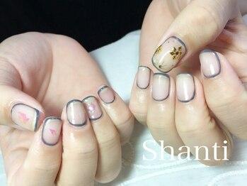 シャンティ ネイルサロン(Shanti nail salon)/冬のクリアネイル