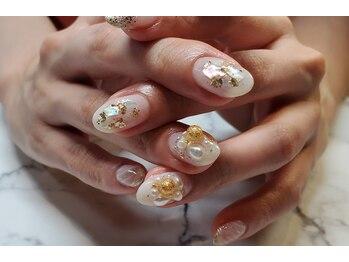 ネイルサロンブラン(nail salon BLANC)/ニュアンスなブライダルネイル