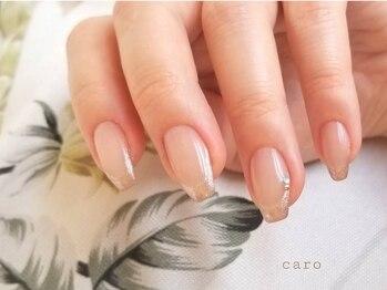 カロ スリムアンドビューティー(caro)の写真/持続性&仕上がりの美しさに欠かせないケアを大切にしたサロン♪爪が弱い等お困りの方も持ちの良さを実感!