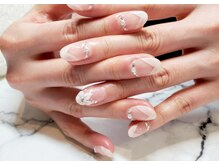 ネイルサロンブラン(nail salon BLANC)/エアーブラシのブライダルネイル