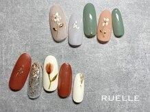 リュエル(RUELLE)/フラワーアート 春ネイル