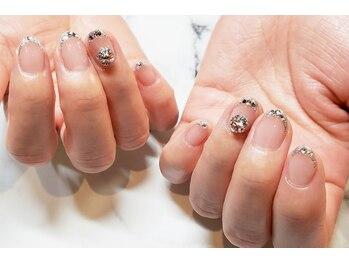 ネイルサロンブラン(nail salon BLANC)/フレンチとビジューのブライダル