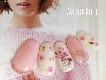 アグニークリッシェ(Agunik Riche)/【桜ネイル】