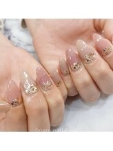 【nail】maogel×ラメ