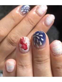 マムコレクション/夏祭り 花火 金魚