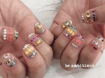 ネイルサロンアンドスクール ビーアンビシャス(be ambitious)/アートやり放題★12000円