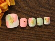 ネイルサロンアンドスクール グーフィー(nail salon&school goofy)/ひなまつりフットネイル9500円