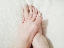 パラジェル使用★素足になるこの季節は足元もおしゃれに♪