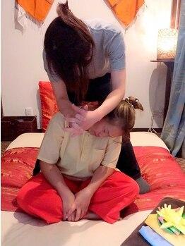 サバイ(SABAI)の写真/お悩みの多い辛い首肩こり,深い疲れはSABAIにお任せ♪【タイ式70分+デコルテ20分¥6300】首肩を重点ケア☆