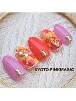 ピンクマジック(PINKMAGIC)/たらし込みネイル