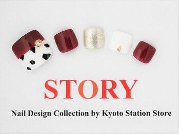 プライベートネイルサロンストーリー 京都駅前店(STORY)/ダルメシアン柄