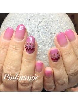 ピンクマジック(PINKMAGIC)/ピンクグラデーションネイル