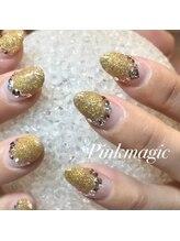 ピンクマジック(PINKMAGIC)/ゴールドラメのフレンチ