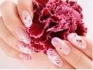 お花×ピンクのラメグラジェル