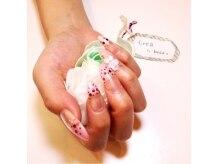 ☆薬指には立体のバラを☆ピンクグラデにピンクホロ¥6887