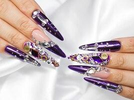 紫ミラーネイル