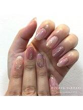 ネイルスタジオ レイナローズ(NAIL STUDIO Reina Rose)/ピンクな大理石風♪