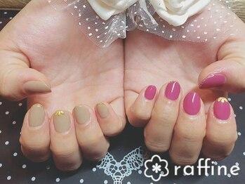 ラフィネ ネイルサロン(raffine)/二色カラーネイル