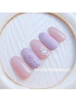 ピンクマジック(PINKMAGIC)/立体小花ネイル