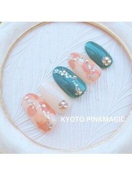 ピンクマジック(PINKMAGIC)/秋色たらしこみネイル