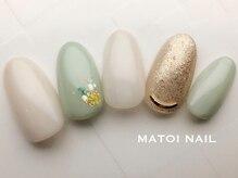 マトイ ネイル(MATOI NAIL)の雰囲気(定額A6500円オフィス系デザイン!さり気ない押し花が大人気◎)