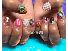 蓄光 pop art nails.