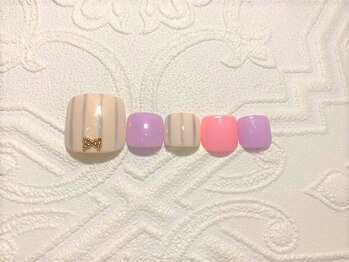 美容室 シャノアール/フット定額アート6000円(ジェル)