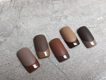 【nail】BROWN French