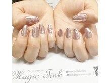 ネイルサロン マジックティンク(Magic Tink)/クロムパウダーのミラーネイル♪