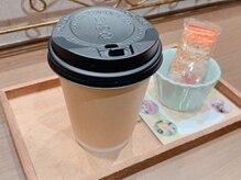 季節のハーブティは衛生的なカップでのご提供をしております