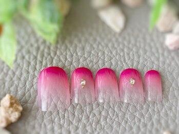 トータルビューティーサロン ブレス 天童店(BLESS)/Wグラデーション可憐pink