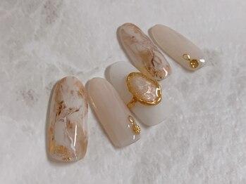 ネイルアンドビューティー 凛空(nail&beauty link)/手作り天然石リング