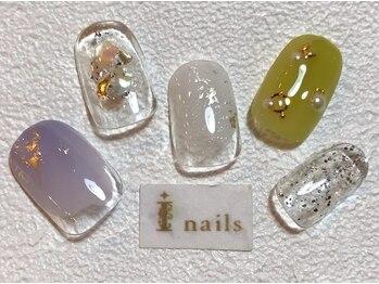 アイネイルズ 梅田店(I nails)/くすみカラークリアネイル
