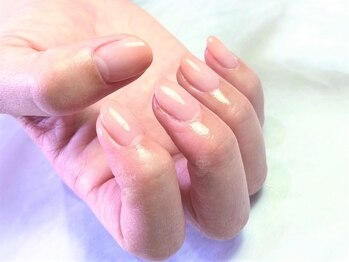 ネイルサロン ルーム 浦安店(Nail Salon ROOM)の写真/ワンカラー・ラメグラ¥3500~定額コースは¥4000~!オフも自爪を削らない手法で長くネイルが楽しめる♪