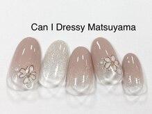 キャンアイドレッシー 松山大街道店(Can I Dressy)/馴染みピンク×フラワー 4400円