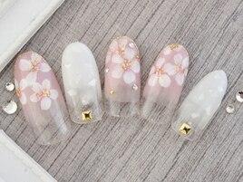 桜風ネイル¥8980