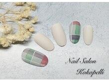 ココペリ(Nail Salon&School kokopelli)/チェックマットネイル