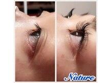 ナチュレ ネイルアンドアイラッシュ(Nature Nail & Eyelash)の雰囲気(Upwardlash で自まつ毛を上げて付けるので逆まつげにオススメ☆)