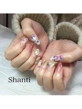 シャンティ ネイルサロン(Shanti nail salon)/フラワーアートネイル