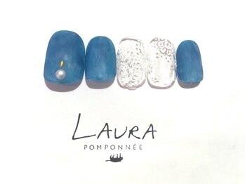 ローラポンポニー(Laura pomponnee)/デニム×レース