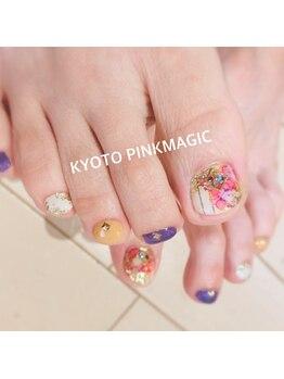 ピンクマジック(PINKMAGIC)/垂らし込みフットネイル